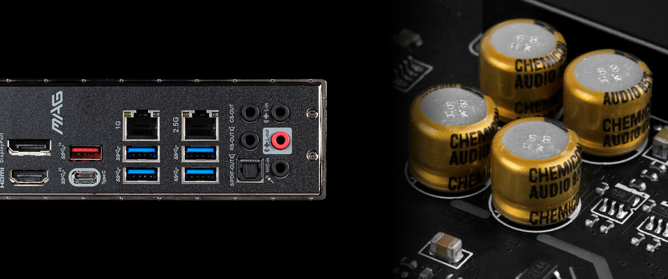 MSI MAG Z490 TOMAHAWK - Układ audio