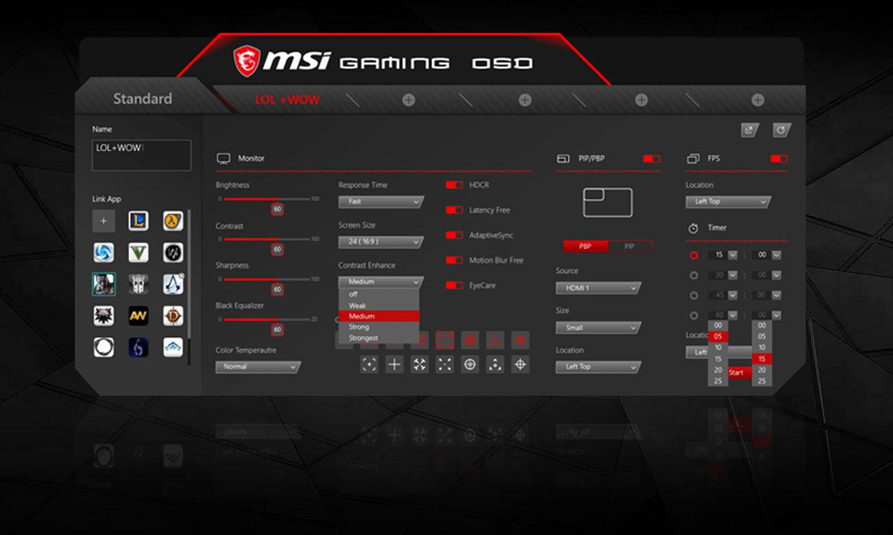 Aplikacja Gaming OSD App