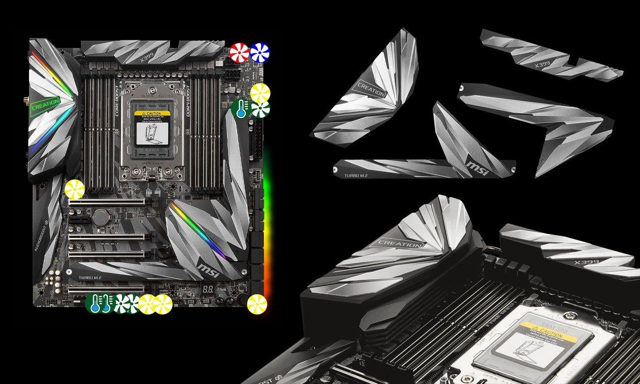 MSI MEG X399 Creation Chłodzenie