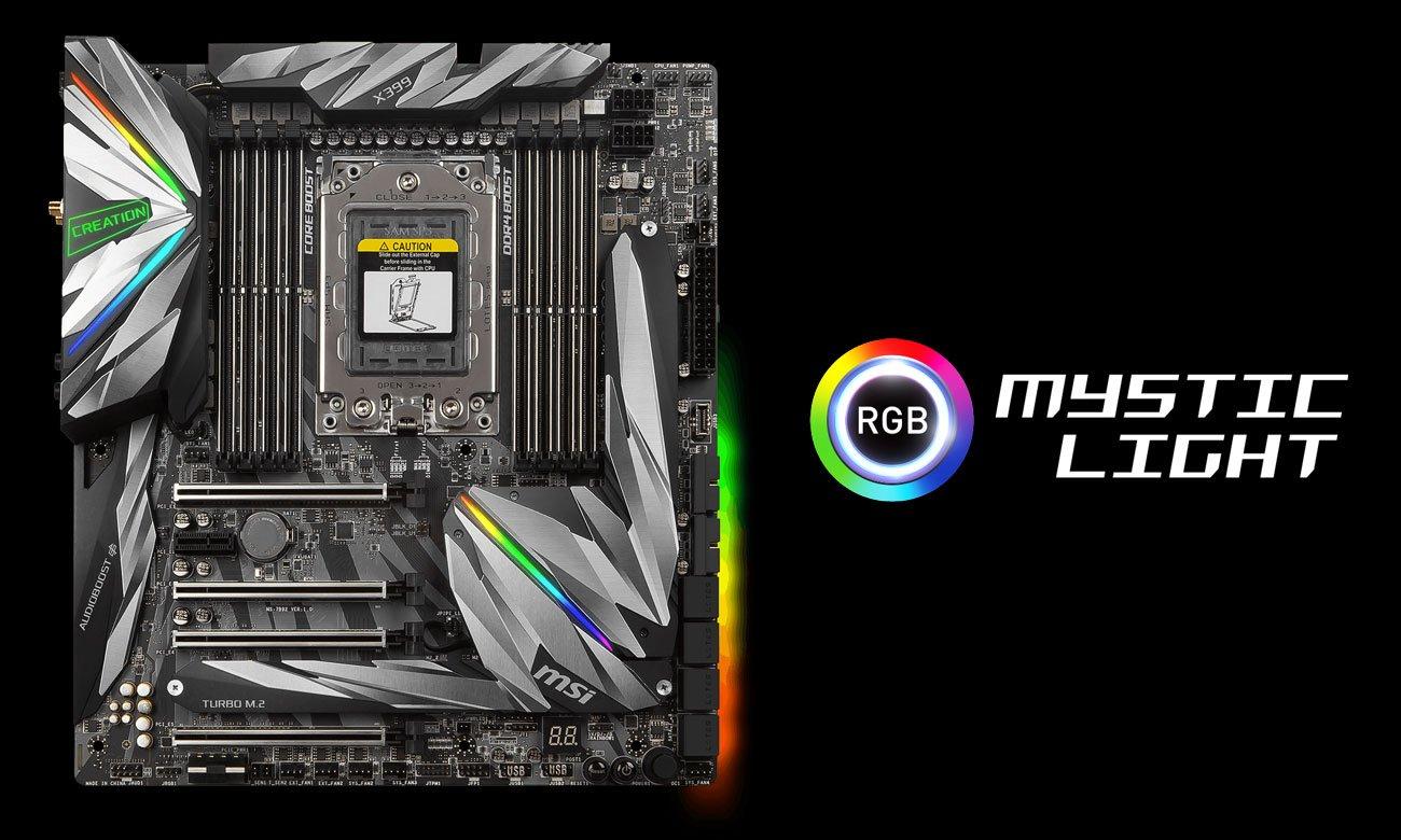 MSI MEG X399 Creation Podświetlenie Mystic Light