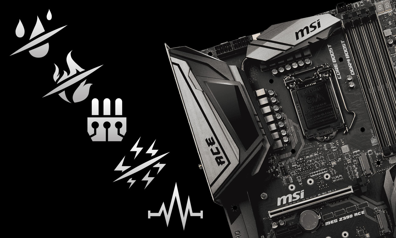 MSI MEG Z390 ACE Zaawansowana ochrona