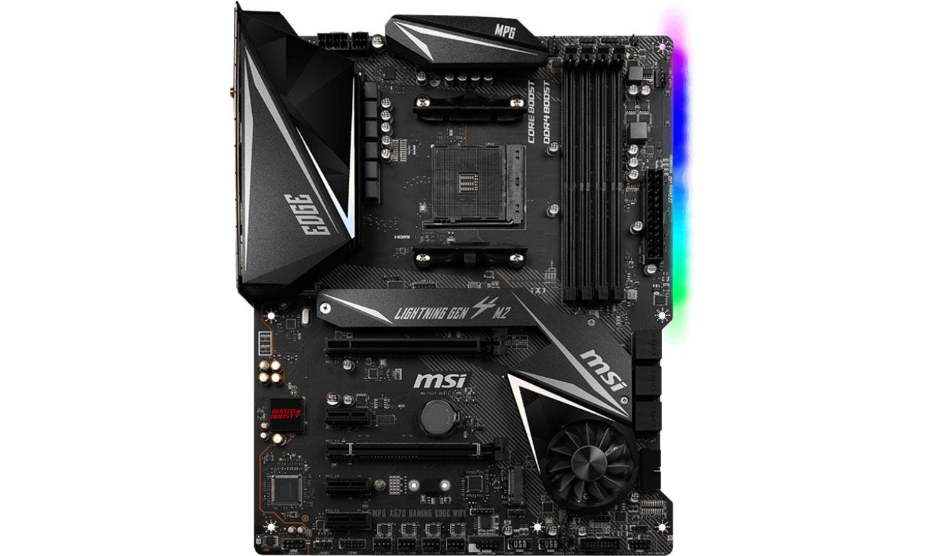 MSI MPG X570 GAMING EDGE WIFI - Podświetlenie Mystic Light