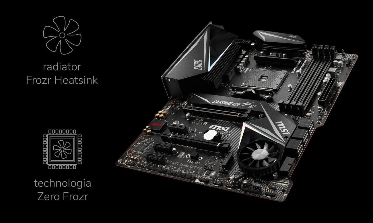 MSI MPG X570 GAMING EDGE WIFI - Chłodzenie