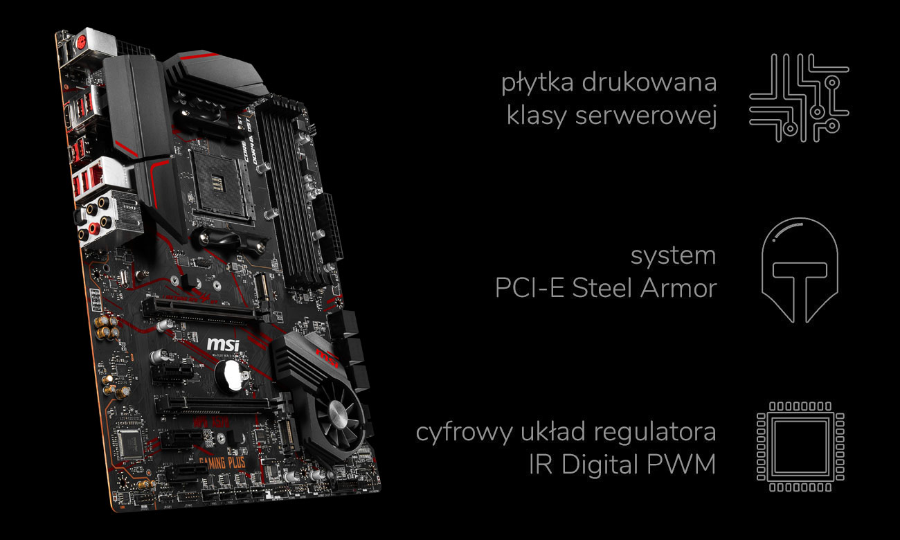 MSI MPG X570 GAMING PLUS - Wytrzymałość