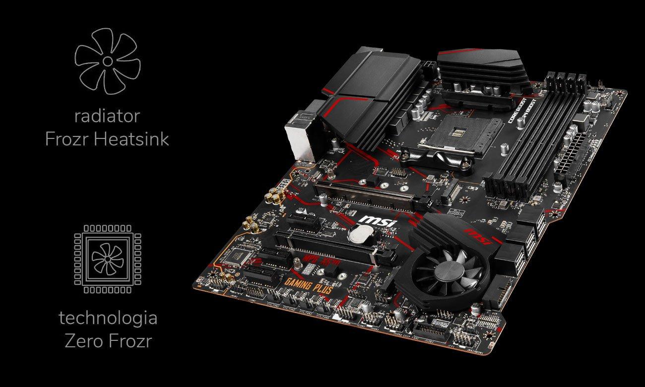 MSI MPG X570 GAMING PLUS - Chłodzenie