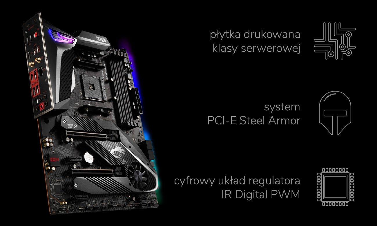 MSI MPG X570 GAMING PRO CARBON WIFI - Wytrzymałość