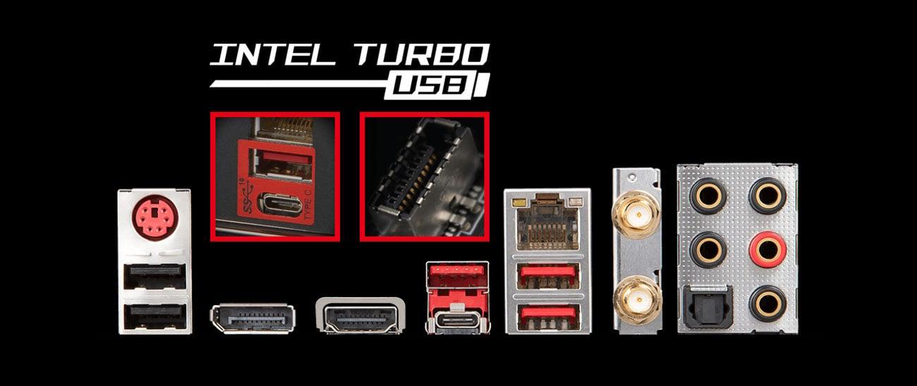 MSI MPG Z390 GAMING EDGE AC Szybki transfer USB do 10 Gb/s