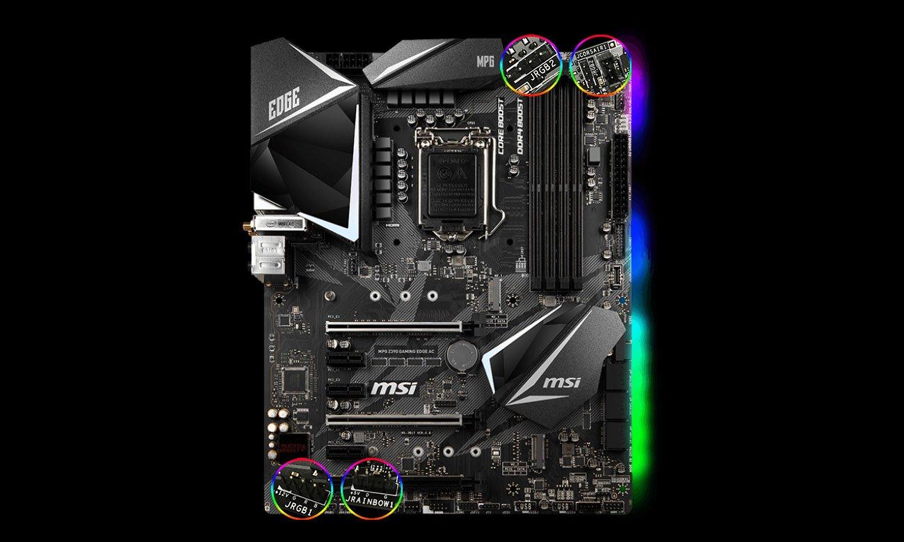 MSI MPG Z390 GAMING EDGE AC Podświetlenie Mystic Light