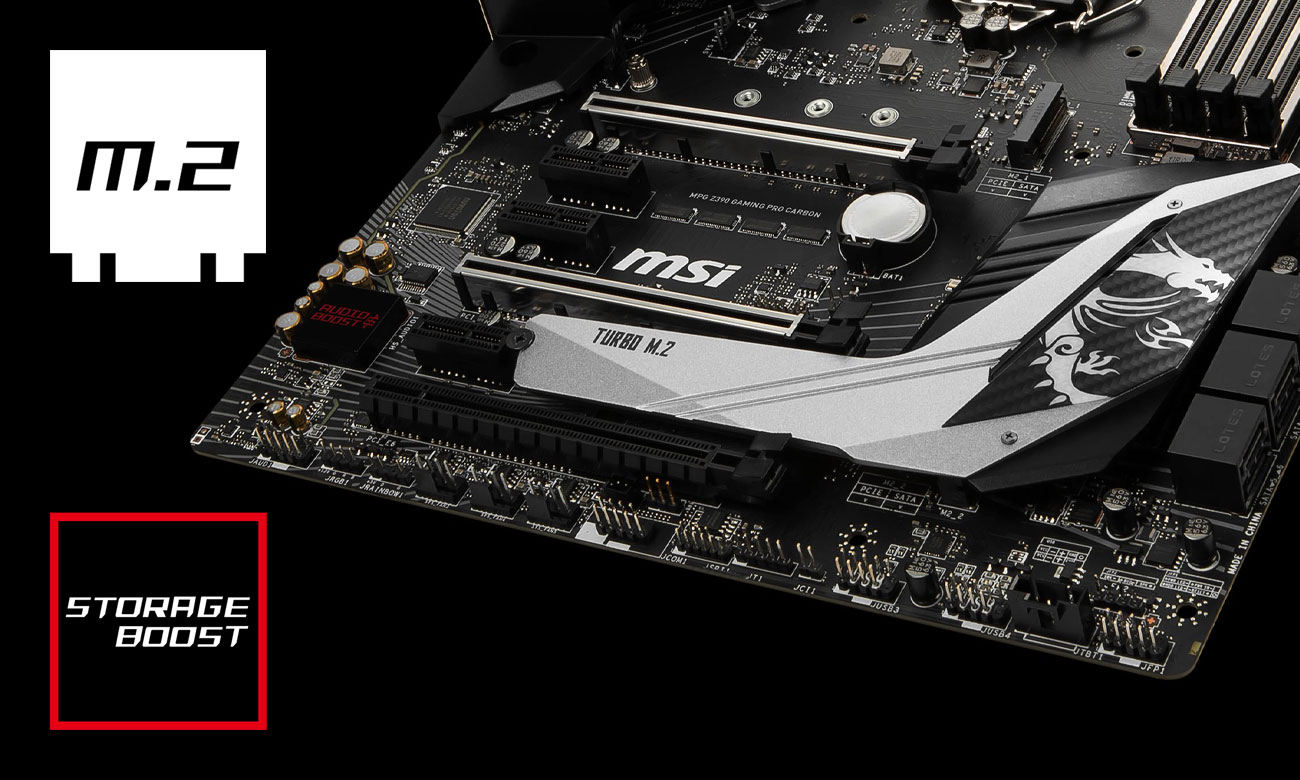 MSI MPG Z390 GAMING PRO CARBON Złącza M.2