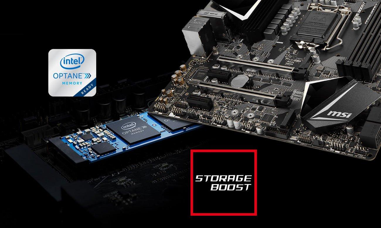 MSI MPG Z390M GAMING EDGE AC Złącza M.2 Intel Optane