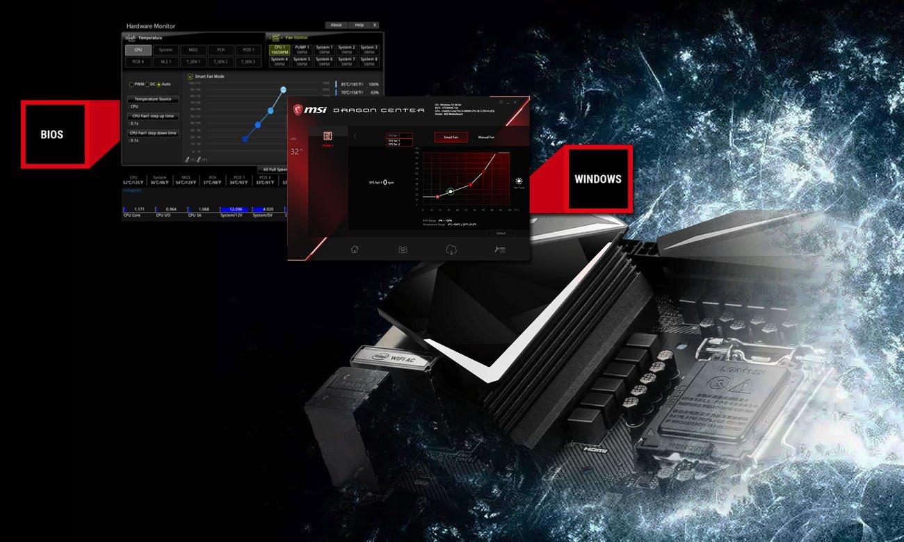 MSI MPG Z390M GAMING EDGE AC Chłodzenie