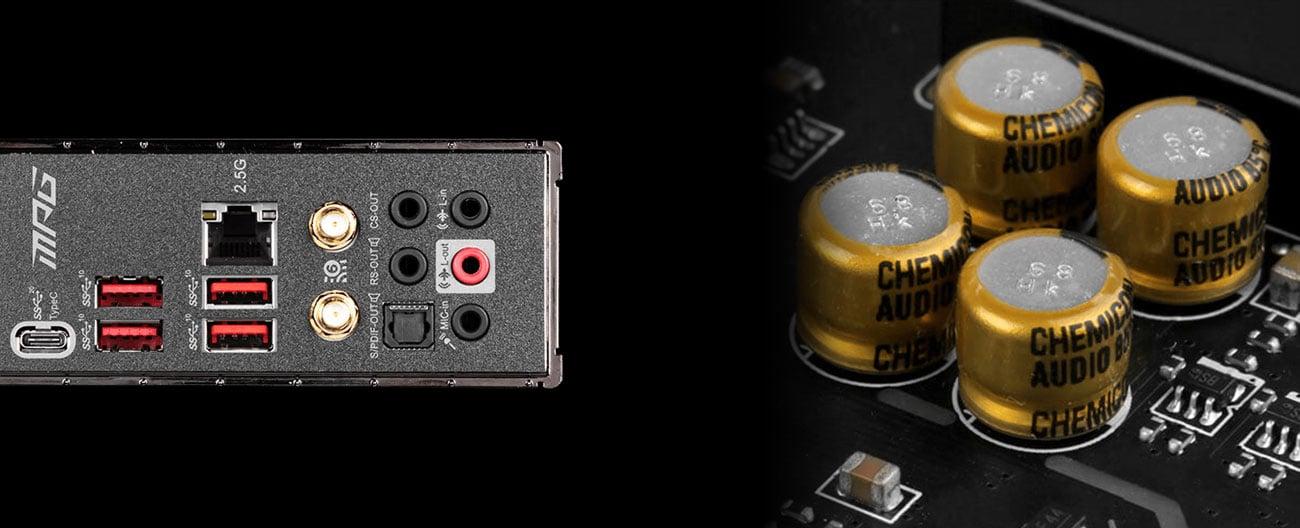 MSI MPG Z490 GAMING PRO CARBON WIFI - Układ audio