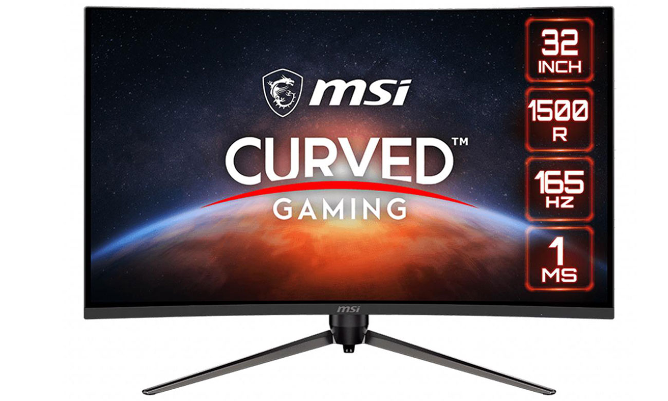 Monitor LED 31,5  większy MSI Optix AG321CQR Curved czarny