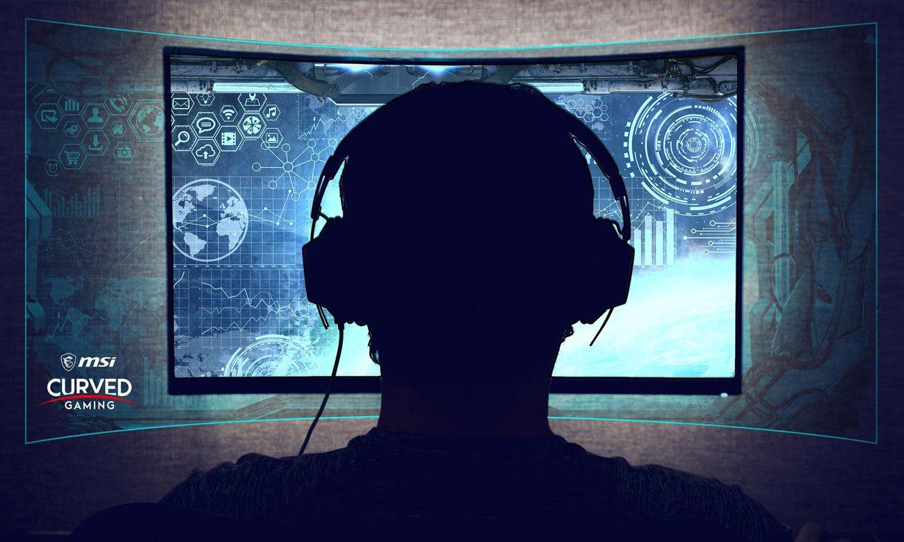 MSI Optix MPG27CQ Curved Zakrzywiony ekran 1800R, 178-stopniowy kąt widzenia