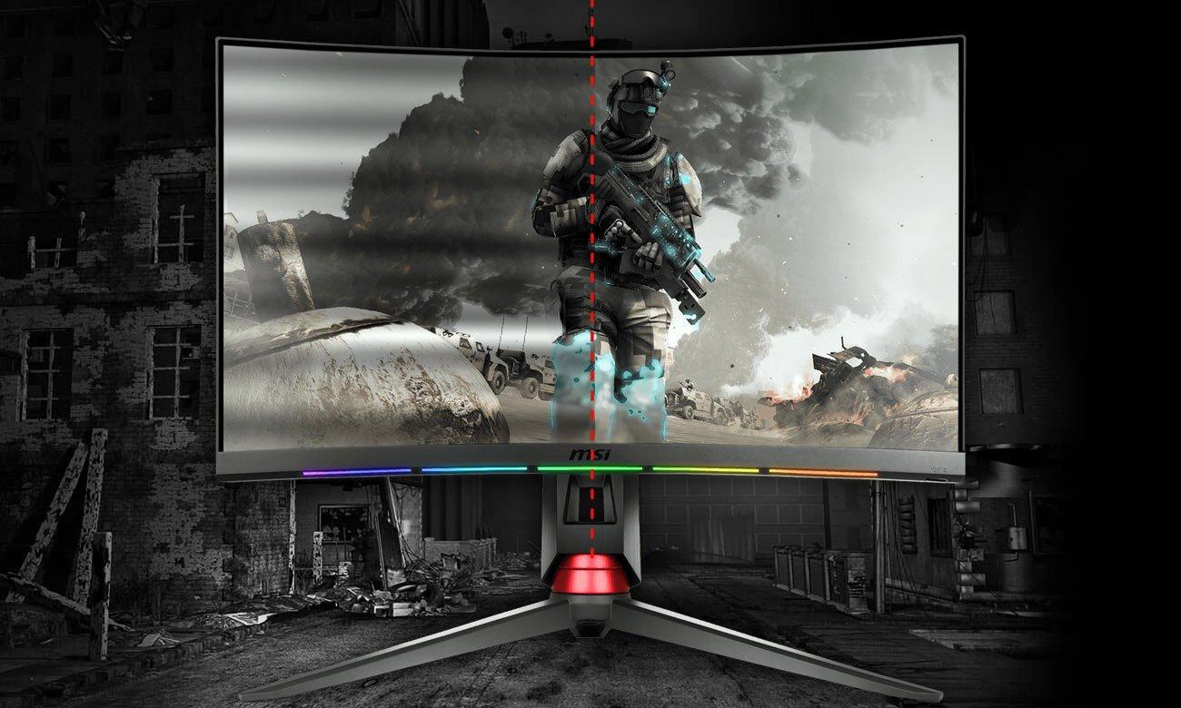 MSI Optix MPG27CQ Curved Technologia Anti-Flicker, Redukcja niebieskiego światła