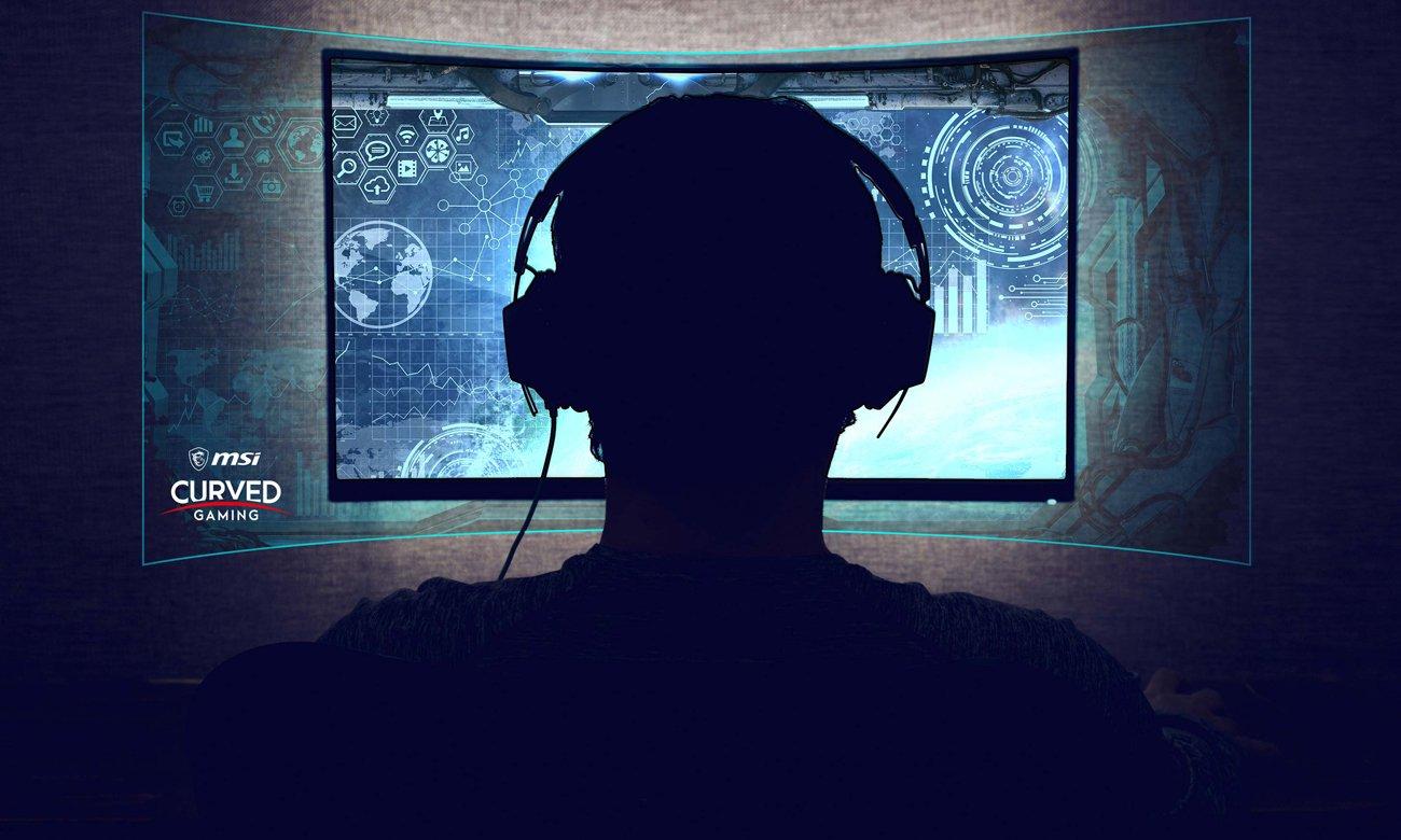 Monitor MSI Optix MAG241C zakrzywiony ekran promien 1800R