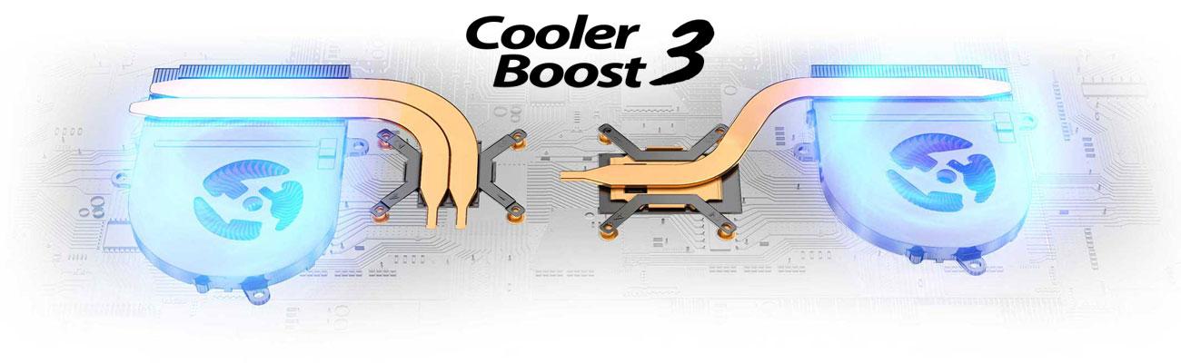MSI PS42 8RB Dwumodułowy system chłodzenia Cooler Boost 3
