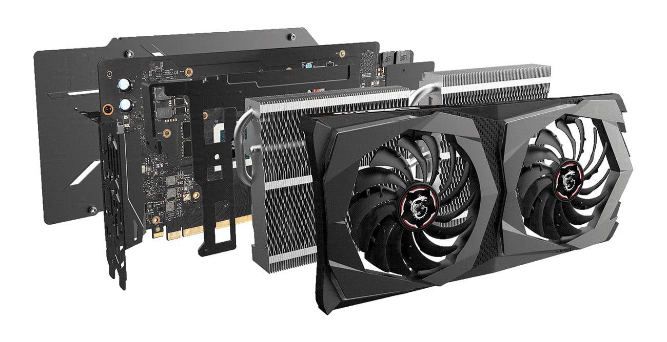 MSI Geforce RTX 2070 SUPER GAMING X - Chłodzenie Twin Frozr 7