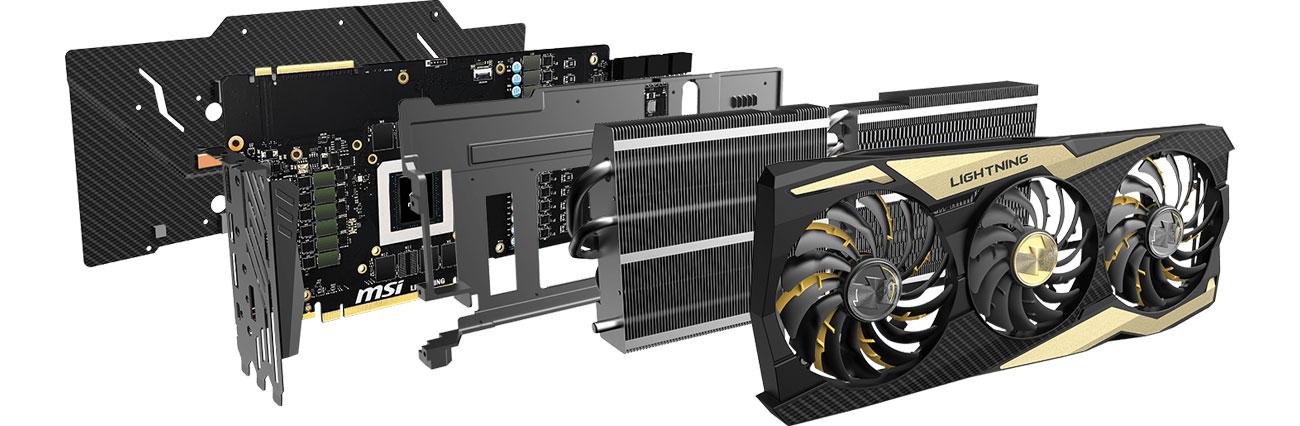 MSI GeForce RTX2080 Ti LIGHTNING Z Układ chłodzenia