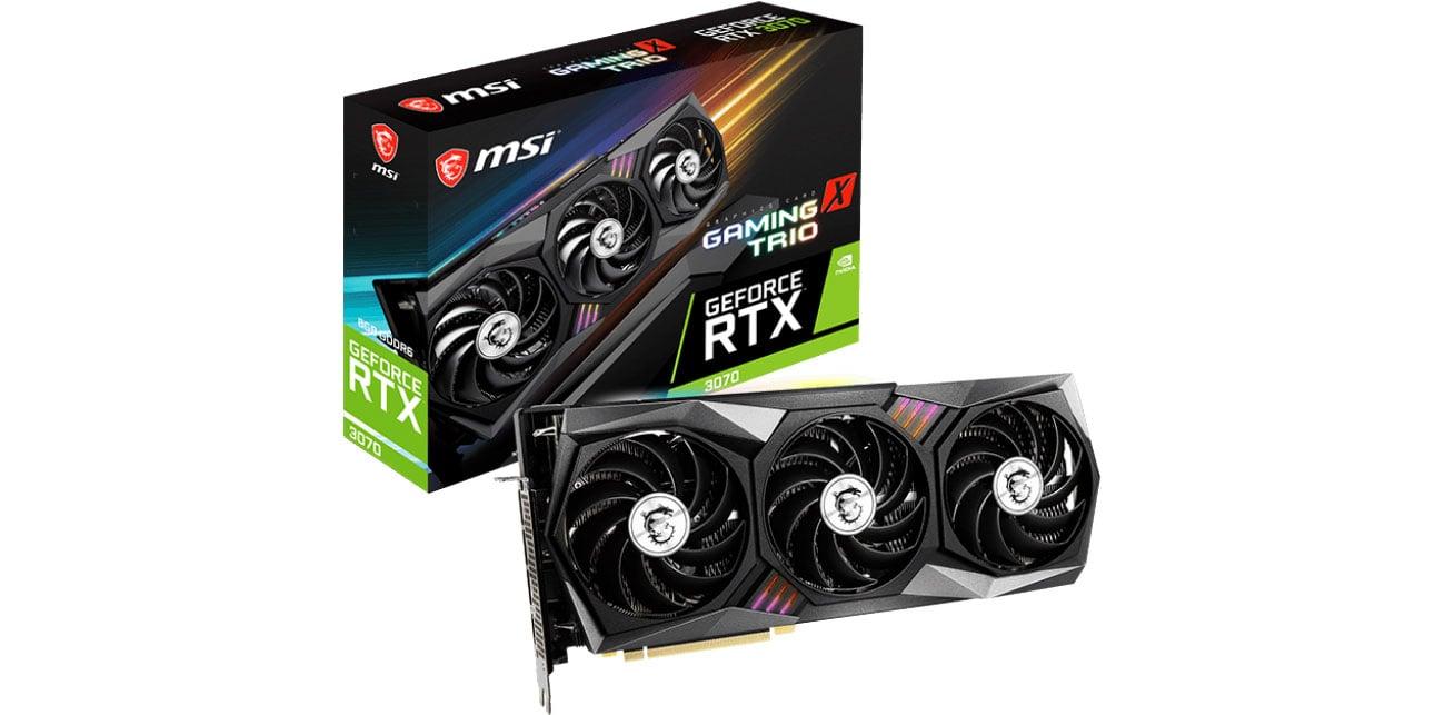 Karta graficzna NVIDIA MSI GeForce RTX 3070 Gaming X Trio 8GB GDDR6 RTX 3070 GAMING X TRIO 8G