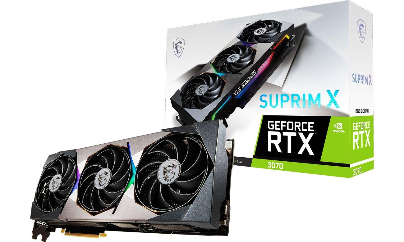 Karta graficzna NVIDIA MSI GeForce RTX 3070 SUPRIM X 8GB