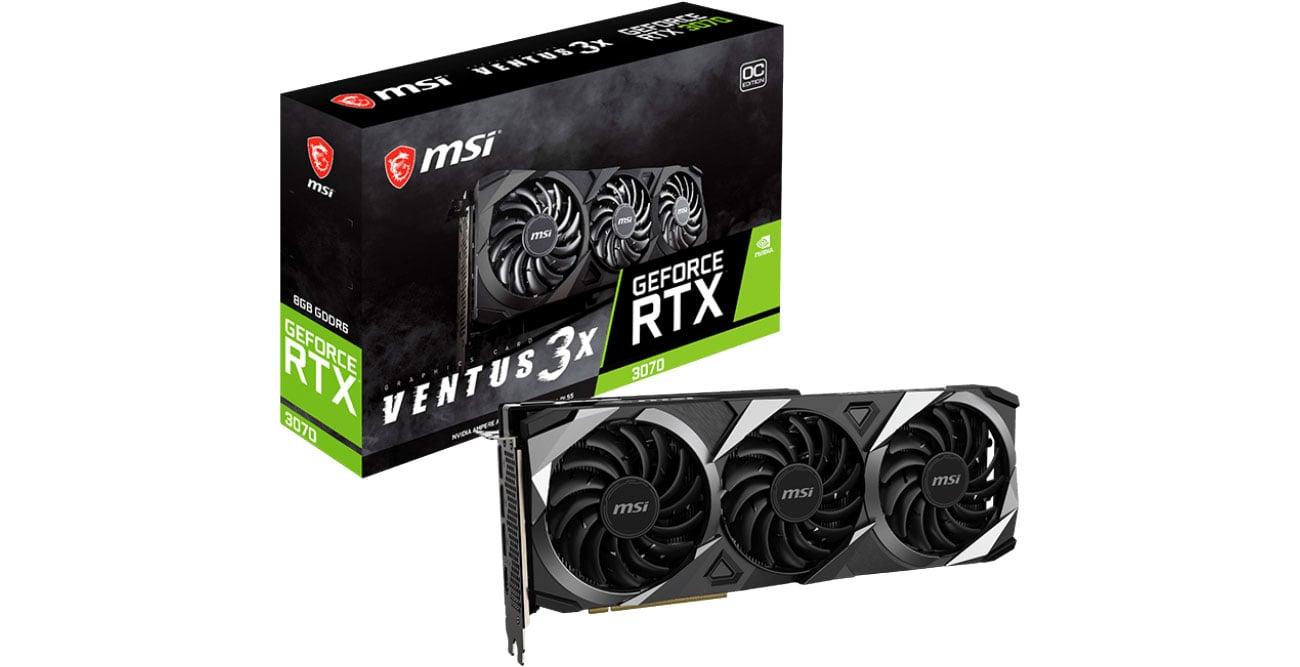 Karta graficzna NVIDIA MSI GeForce RTX 3070 Ventus 3X OC 8GB GDDR6 RTX 3070 Ventus 3X OC 8G