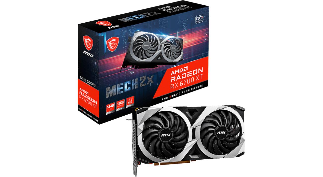 Karta graficzna AMD MSI Radeon RX 6700 XT MECH 2X OC 12GB GDDR6 RX 6700 XT MECH 2X 12G OC