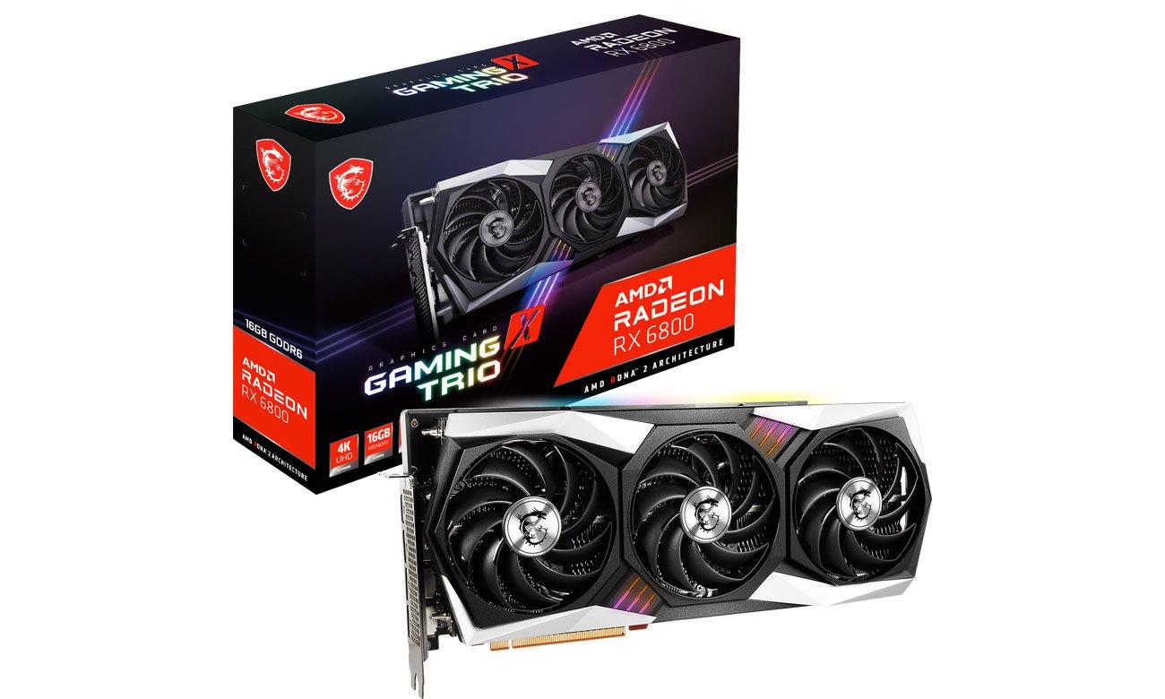 Karta graficzna AMD MSI Radeon RX 6800 GAMING X TRIO 16GB GDDR6 RX 6800 GAMING X TRIO 16G