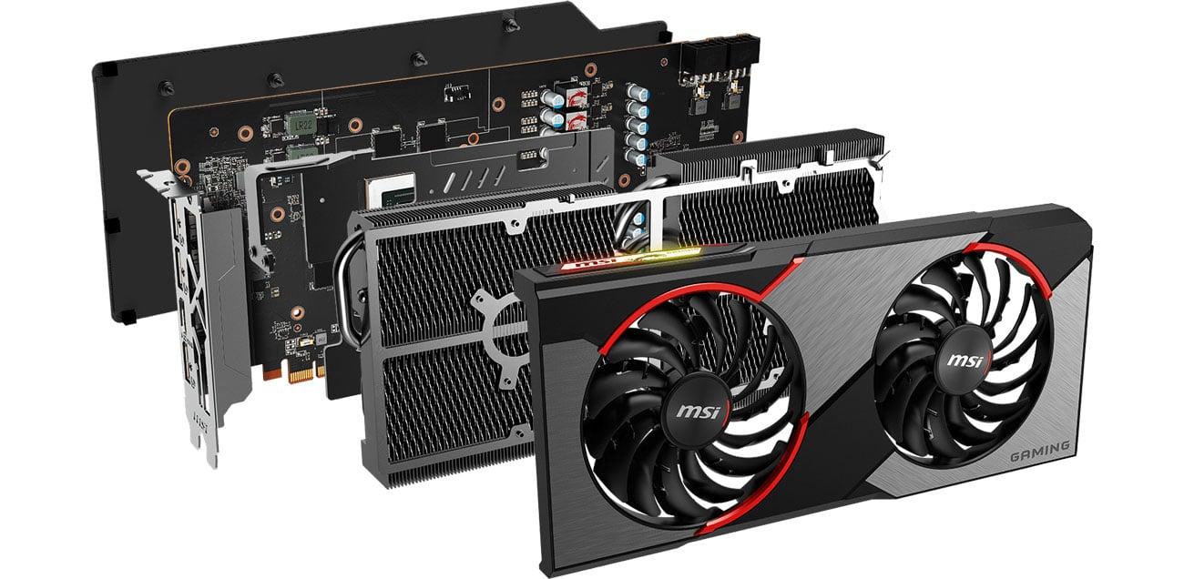 MSI Radeon RX 5700 GAMING X - Chłodzenie Twin Frozr 7