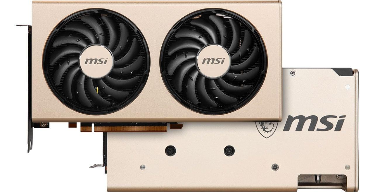 MSI Radeon RX 5700 XT EVOKE OC - Przód, tył