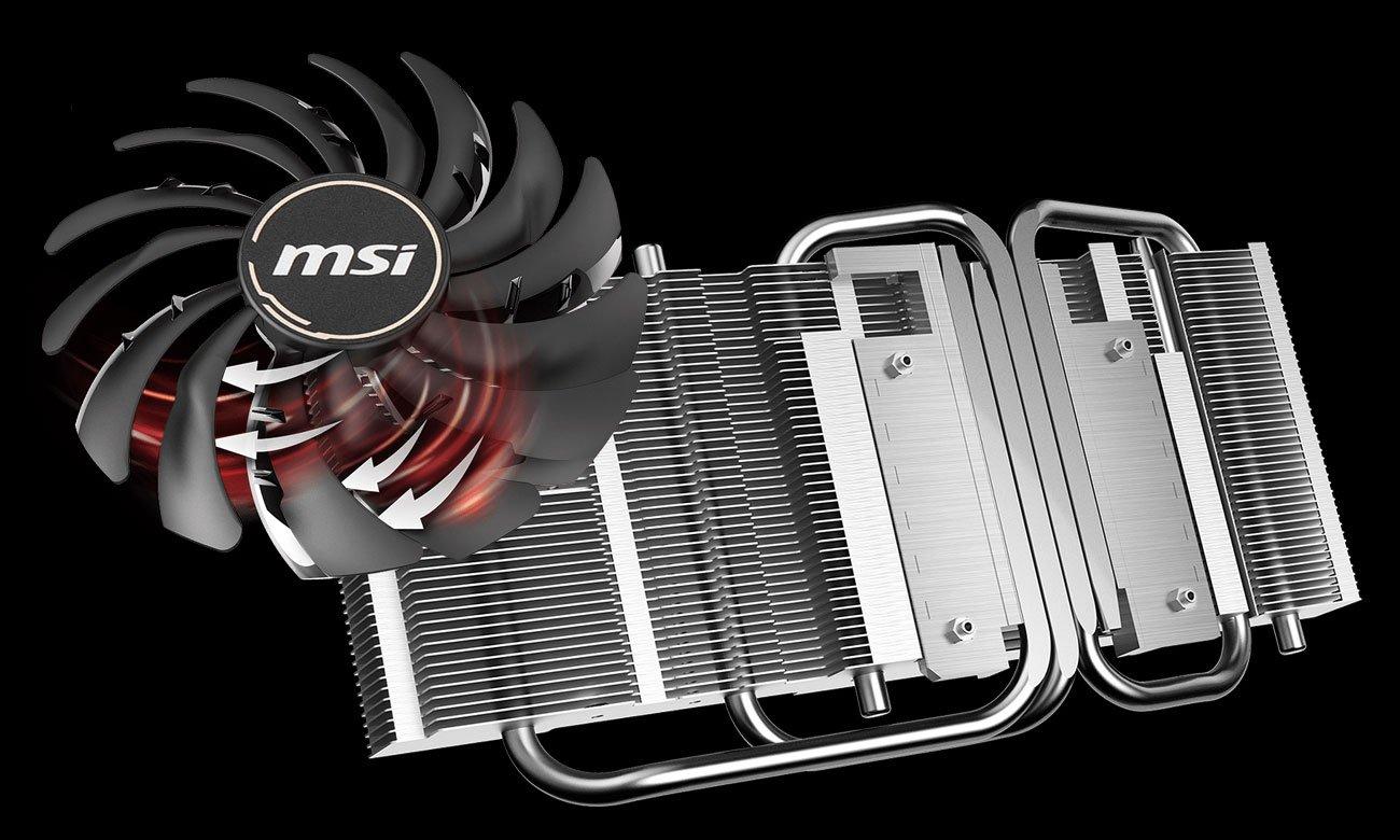 MSI Radeon RX 5700 XT MECH OC - Chłodzenie