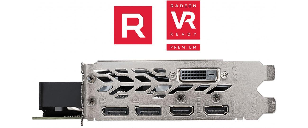 MSI Radeon RX 590 ARMOR OC Porty, VR