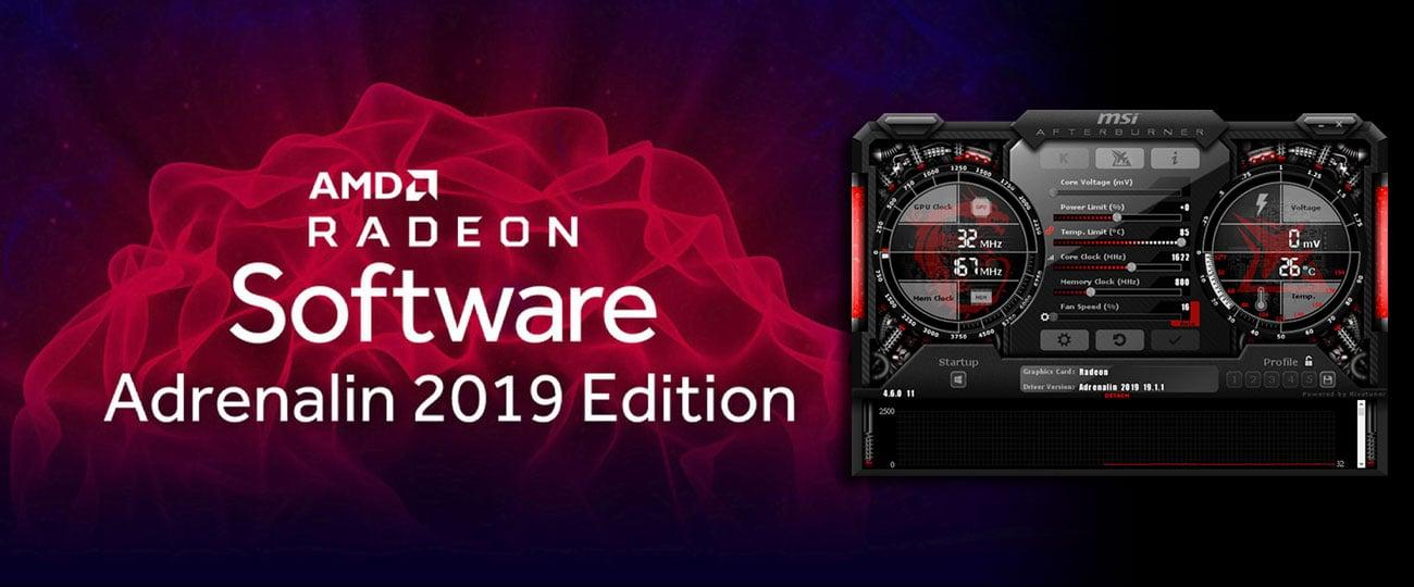 AMD Radeon Software Adrenalin 2019 Edition, MSI Afterburner