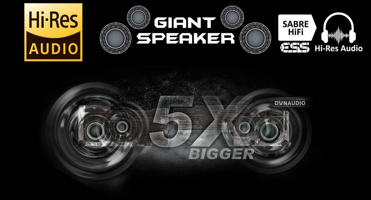 MSI GE63 Raider RGB 8RE System audio ESS Sabre HiFi i 5 razy większe głośniki