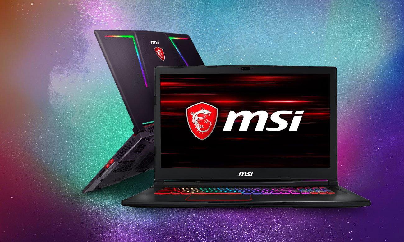 MSI GE73 Raider RGB 8RF laptop stworzony do gamingu