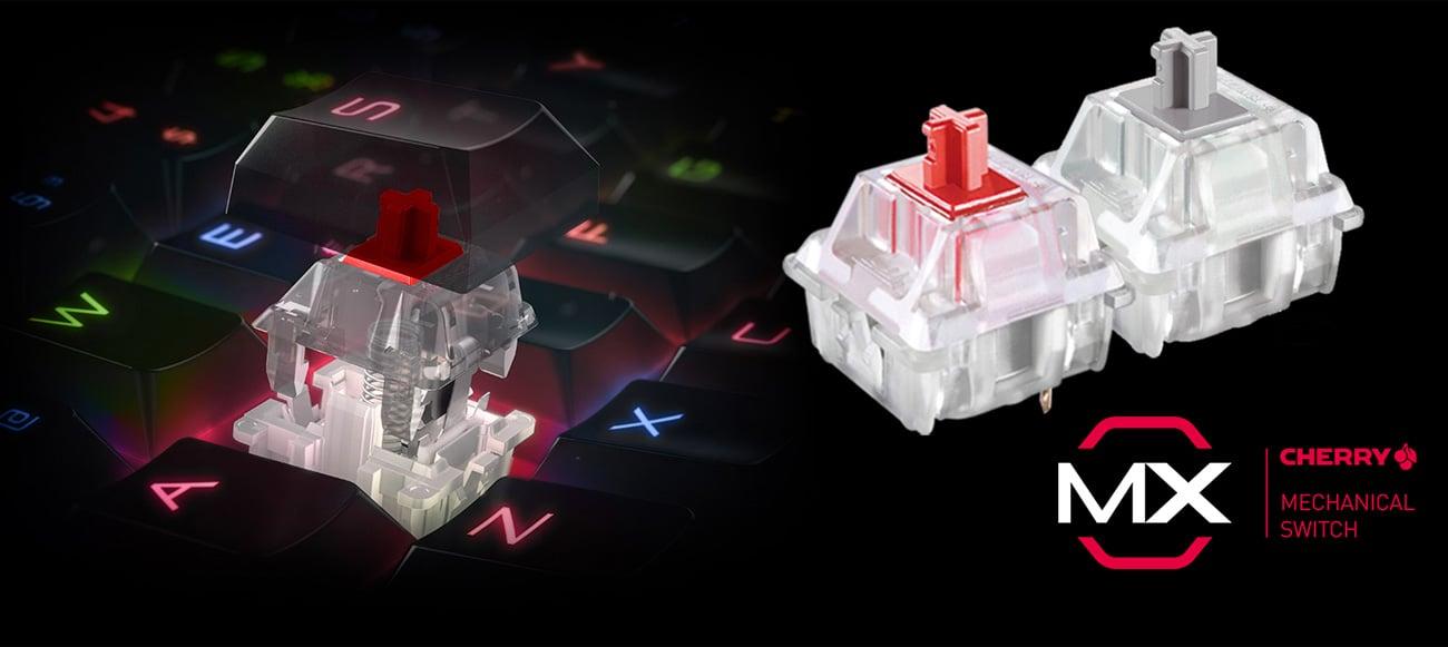 MSI Vigor GK80 Przełączniki Cherry MX Red