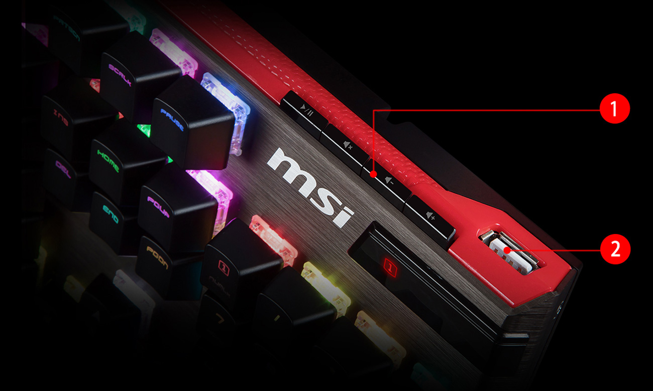 MSI Vigor GK80 Port USB