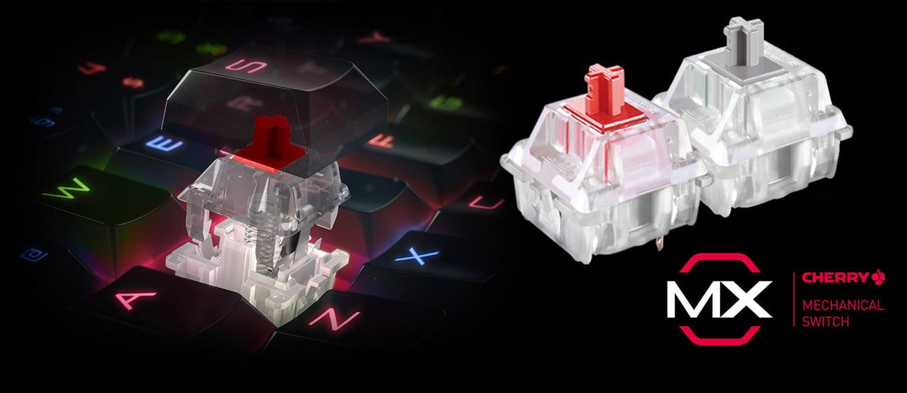 MSI Vigor GK70 TKL Przełączniki Cherry MX Red
