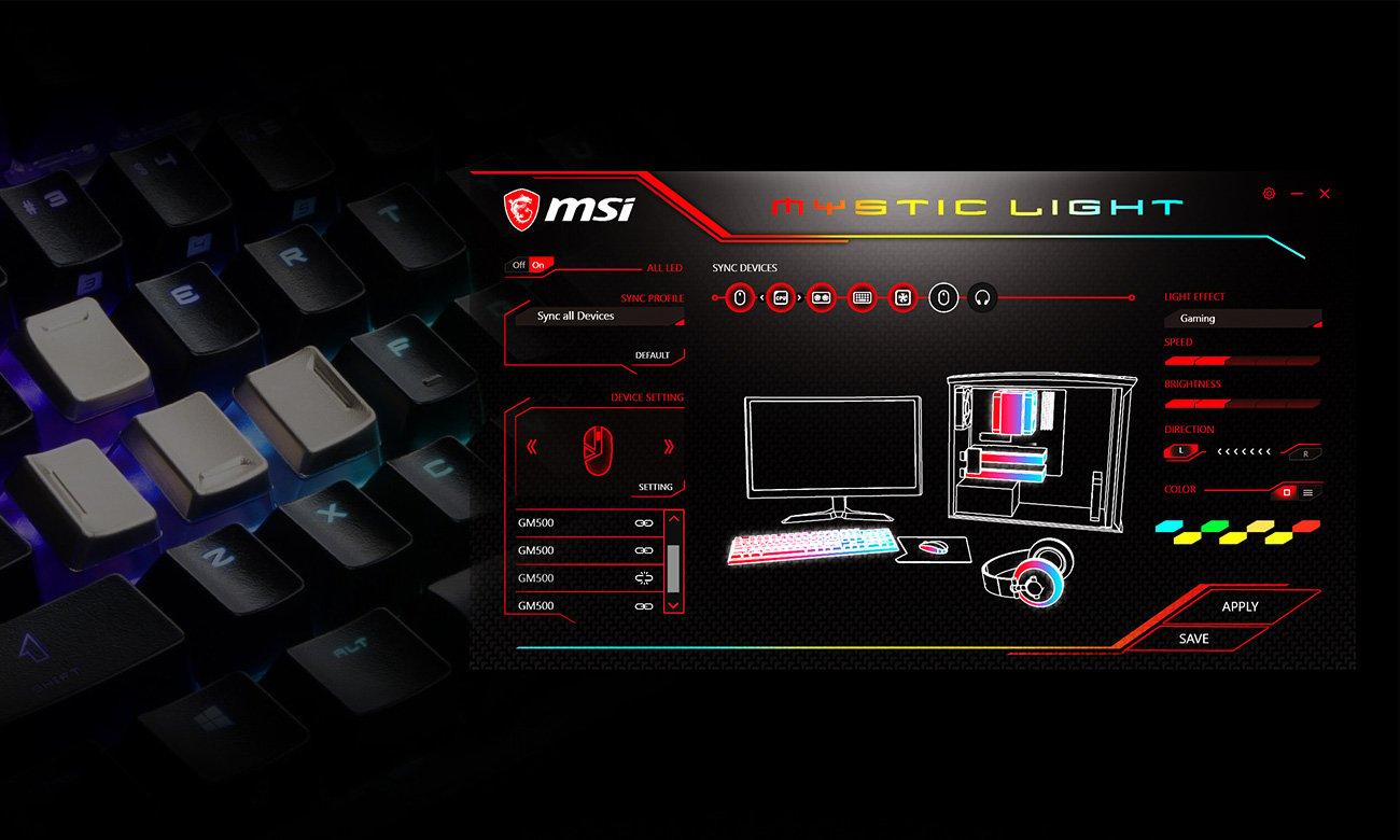 MSI Vigor GK70 TKL Personalizacja