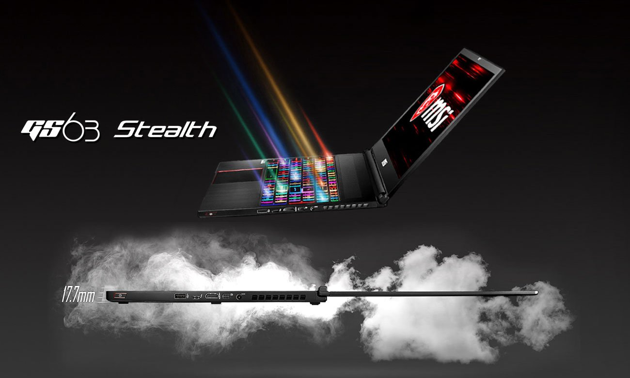 MSI Stealth GS63 8RE Новое определение тонкого игрового ноутбука