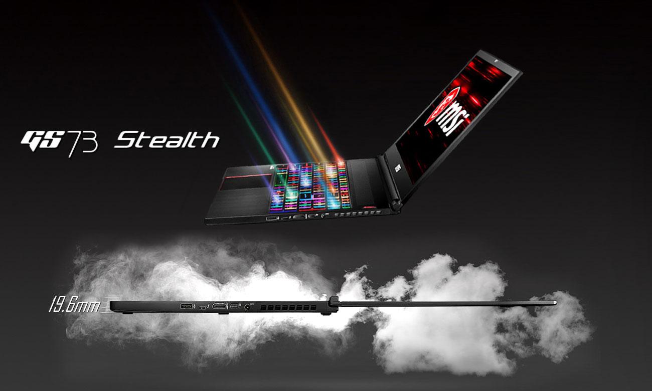 MSI Stealth GS73 8RE Nowa definicja smukłego, gamingowego notebooka
