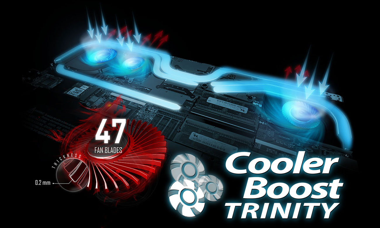 MSI Stealth GS73 8RE Chłodzenie Cooler Boost Trinity