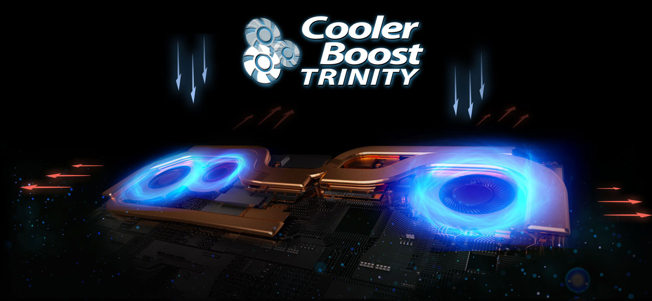 MSI GS65 Stealth Thin 8RE System chłodzenia Cooler Boost Trinity