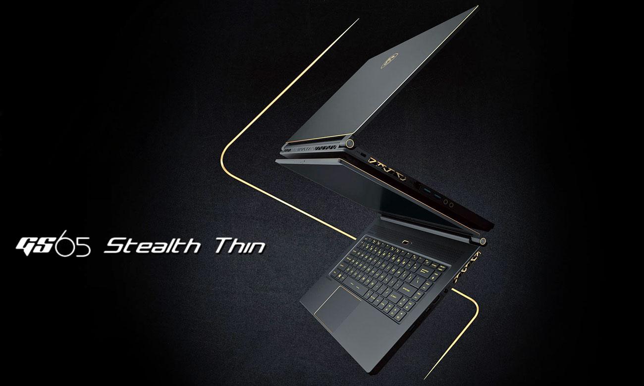 MSI GS65 Stealth Thin 8RF Smukły i stylowy gaming