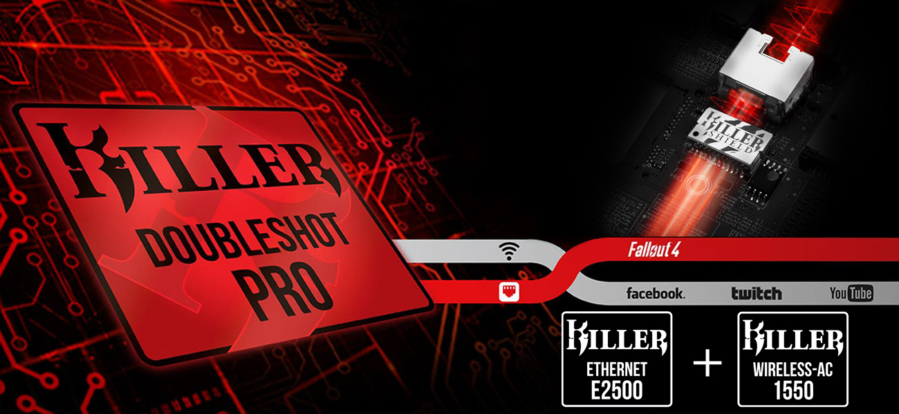 MSI GS65 Stealth Thin 8RF Karta seciowa Killer DoubleShot Pro