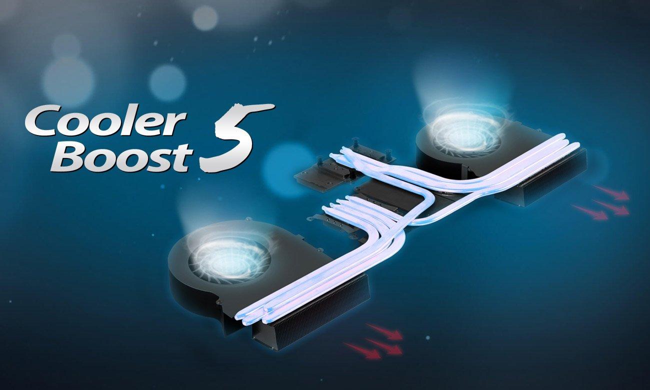 MSI GT63 Titan 8RF Rewolucyjny system chłodzący Cooler Boost 5