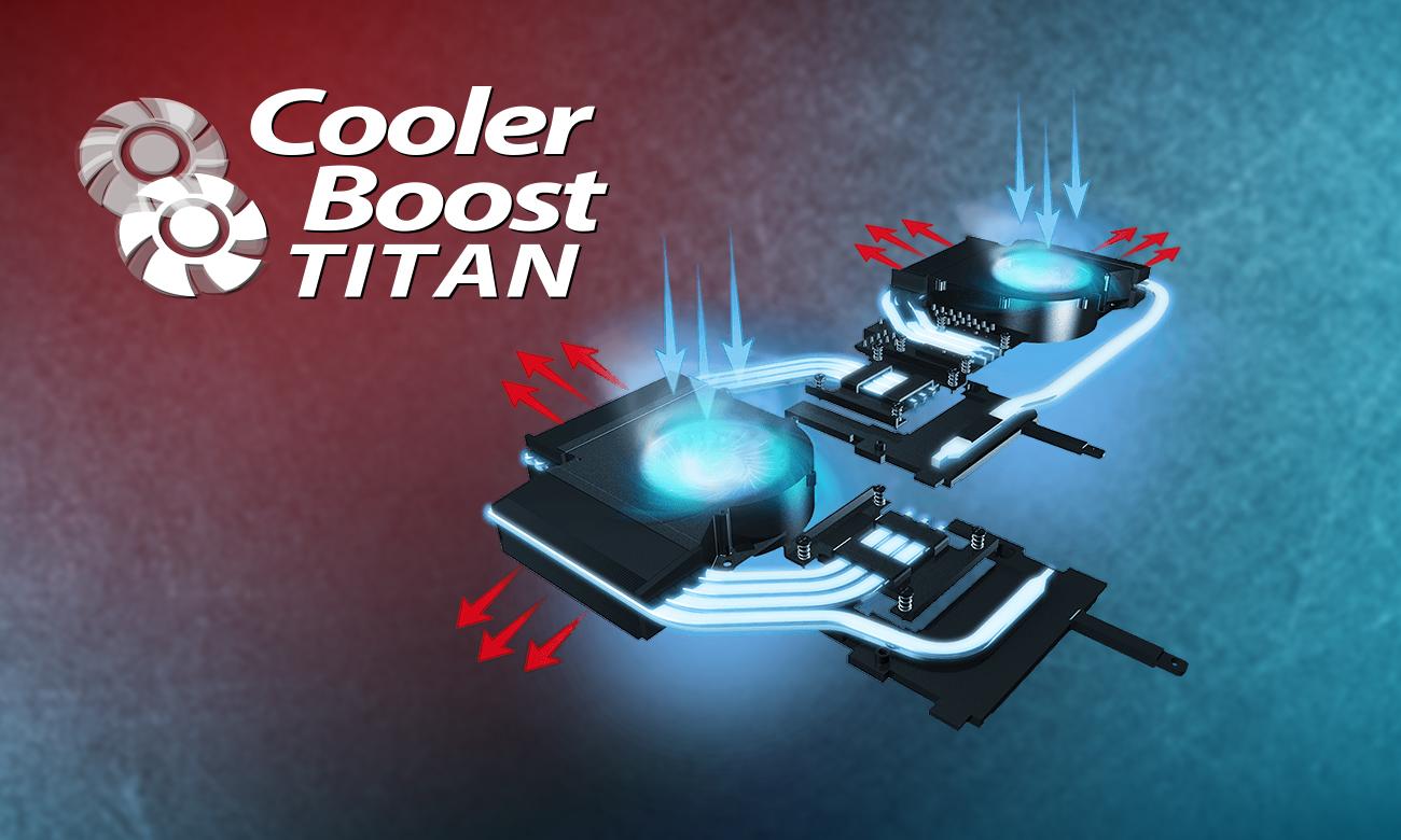 MSI Titan GT75 8RF Chłodzenie Cooler Boost Titan