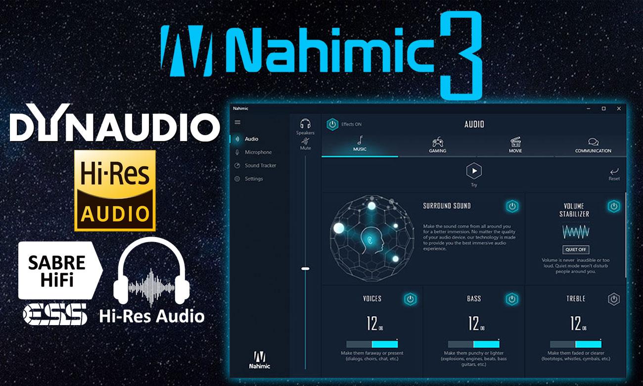 MSI Titan GT75 8RG Krystalicznie czysty dźwięk, Dynaudio,  SABRE Audio DAC, Nahimic 3