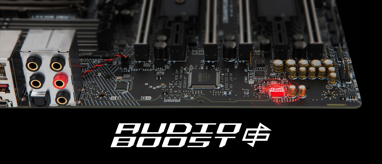 MSI X299 GAMING PRO CARBON AC System Audio Boost 4 Pro