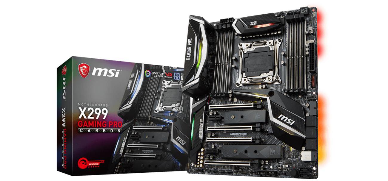 Płyta główna Socket 2066 MSI X299 GAMING PRO CARBON (DDR4)